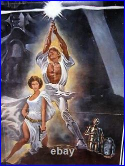 STAR WARS Ford Fisher Hamill SCI-FI ORIG 77/21 STYLE A US ONE SHEET 1977