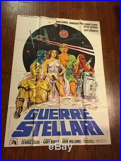 STAR WARS Italian 2 Sheet Movie Poster Original Papuzzo 1977 Vintage Foreign