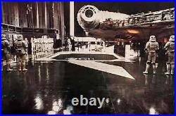 STAR WARS JUMBO STILL 20x30 MILLENIUM FALCON RARE VINTAGE 1977