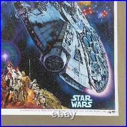 STAR WARS MILLENNIUM FALCON 1982' Original Movie Poster Japanese B2 Ohrai art