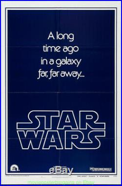 STAR WARS MOVIE POSTER Style B Folded 27x41 GEORGE LUCAS HARRISON FORD