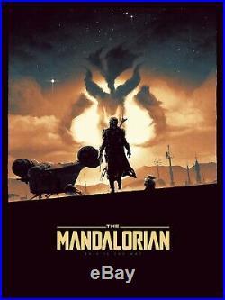 STAR WARS Mandalorian Matt Ferguson Movie Poster 18x24 Bottleneck NOT MONDO