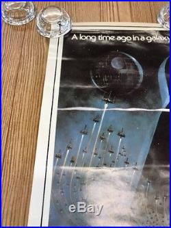 STAR WARS ORIGINAL MOVIE Release POSTER 1977 Vintage 28x20 Not A Repro! RARE