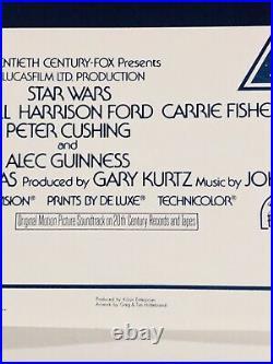STAR WARS Original 15th Anniversary Reissue ONE SHEET Movie Poster 27x41Rolled