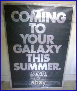 STAR WARS Original 1976 RARE 1st Advance MYLAR One Sheet Movie Poster