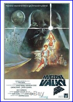 STAR WARS Original RARE Artistic Czech A3 Movie Poster'77 G. LUCAS HARRISON FORD