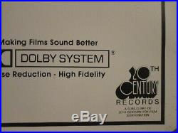 STAR WARS Original Record Soundtrack 1sheet Style Rolled Movie Poster -Lucas