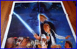 STAR WARS RETURN OF THE JEDI ORIGINAL NSS One sheet folded movie poster 27x41