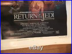 STAR WARS RETURN OF THE JEDI ORIGINAL NSS One sheet rolled movie poster