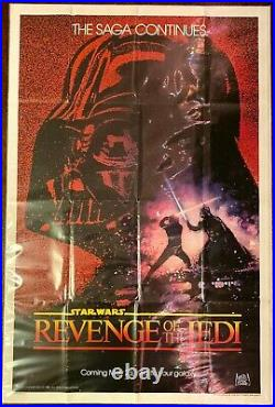 STAR WARS REVENGE OF THE JEDI Authentic Teaser One Sheet Movie Poster VERY RARE