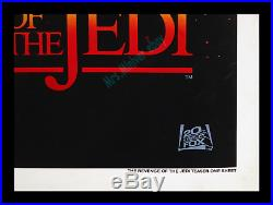 STAR WARS REVENGE OF THE JEDI No-DATE! GENUINE 1st PRINTING MOVIE POSTER