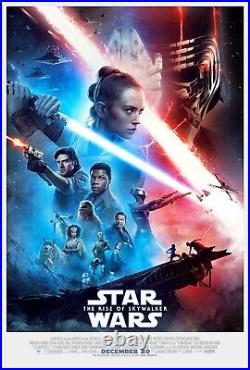 STAR WARS RISE OF SKYWALKER 2019 Original DS 2 Sided 27x40 US Movie Poster MINT