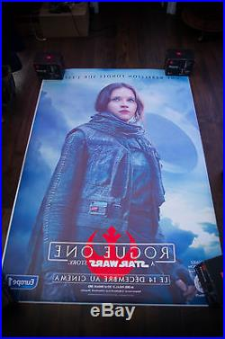 STAR WARS ROGUE ONE B 4x6 ft Bus Shelter Original Movie Poster 2016