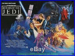 STAR WARS Return Of The Jedi MOVIE POSTER Orig. 1983 British Quad 30x40 Folded