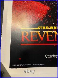STAR WARS Revenge Of The Jedi US One Sheet 27 x 41 Movie Poster LInen Back