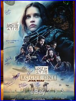 STAR WARS Rogue One Cast Signed Autograph Poster ANH Empire Return Jedi Rouge