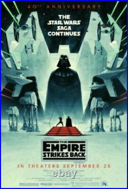 STAR WARS THE EMPIRE STRIKES BACK DS POSTER ONE SHEET 27x40 DISNEY