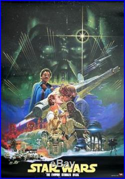STAR WARS THE EMPIRE STRIKES BACK Japanese A1 movie poster OST version OHRAI NM