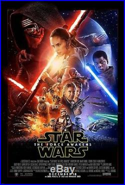 STAR WARS THE FORCE AWAKENS 2015 Original DS 2 Sided 27x40 US Movie Poster