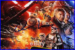 STAR WARS THE FORCE AWAKENS CAST SIGNED 12X18 MOVIE POSTER withCOA ADAM DRIVER X5