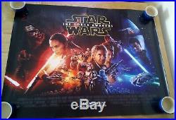 STAR WARS THE FORCE AWAKENS Episode VII UK Cinema/Film Quad Poster 30 x 40
