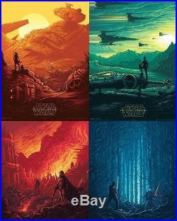 STAR WARS THE FORCE AWAKENS Set of 4 Original Promo Movie Posters IMAX 2015 AMC
