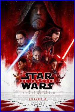 STAR WARS THE LAST JEDI MOVIE POSTER 2 Sided ORIGINAL FINAL 27x40 EPISODE VIII