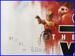 STAR WARS THE LAST JEDI MOVIE POSTER DS ORIGINAL INTL FINAL 27x40 EPISODE VIII