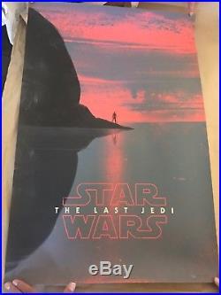 STAR WARS THE LAST JEDI Poster Patrik Svensson nt MONDO Limited /225 BOTTLENECK