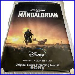 STAR WARS THE MANDALORIAN BUS STOP AUTHENTIC BIG MOVIE POSTER (48in. X70in.)