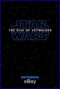 STAR WARS THE RISE OF SKYWALKER 2019 Adv DS 2 Sided 27X40 US Movie Poster MINT