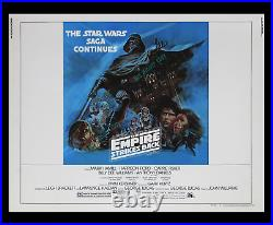 STAR WARS The Empire Strikes Back RARE MOODY BLUE STYLE B 22x28 MOVIE POSTER