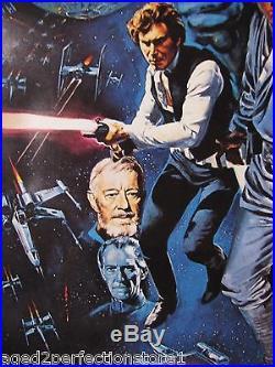 STAR WARS episode IV Movie Poster Style C Luke Skywalker Princess Leah Vader