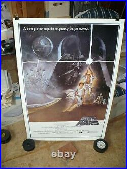 STAR WARS, orig rolled 1-sht / movie poster Fan Club style