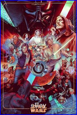 STAR WARS poster Martin Ansin MONDO foil variant screen print Ways of the Force