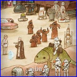 Scott C Campbell Faraway Galaxy Star Wars SOLD OUT Screenprint Poster