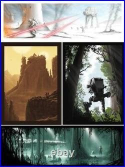 Set 4x J. C. Richard Star Wars Signed LE Handbills Movie Posters Art Prints Mondo