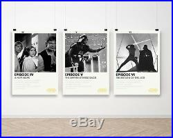 Set of 3 Star Wars Original Trilogy Film Movie Poster Art Print A4 to A0 Framed