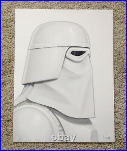 Snowtrooper Mike Mitchell Star Wars Portrait Art Print Poster Mondo