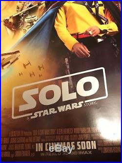 Solo A Star Wars Story Original Movie Poster Inter Final. B 27x40Double Side
