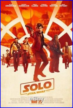 Solo A Star Wars Story Theatrical DS Movie Poster 27x40 D/S FINAL Authentic