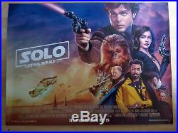 Solo a star wars story. UK cinema poster