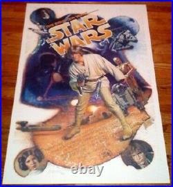 Star Wars 10th Anniv Signed 1987 Drew Struzan Art Autographed By George Lucas