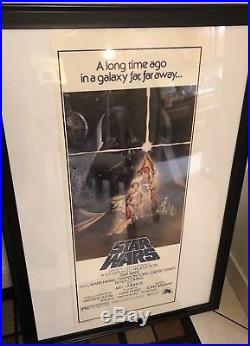 Star Wars 14X36 Original Rare Rolled Video Movie Poster 1977 1981