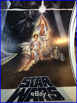 Star Wars 14X36 Original Rare Rolled Video Movie Poster 1977 1981