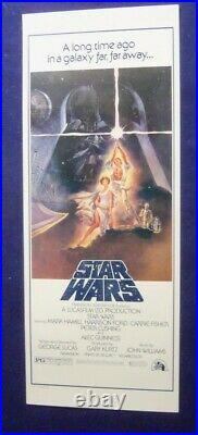 Star Wars 14x36 Original Very Rare Rolled Video Nm Movie Poster 1977 Insert