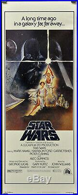 Star Wars 1977 Authentic 14x36 Movie Poster Mark Hamill Harrison Ford