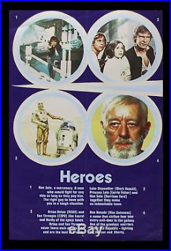 Star Wars 1977 BRITISH DOUBLE CROWN RARE 20x30 MOVIE POSTER Alec Guinness