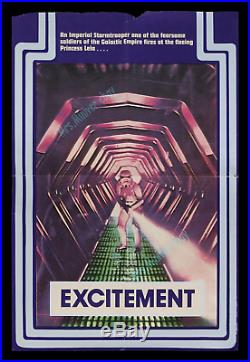 Star Wars 1977 BRITISH DOUBLE CROWN RARE MOVIE POSTER EXCITEMENT STYLE