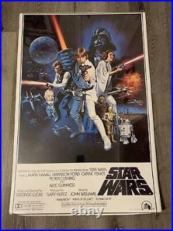 Star Wars 1977 Movie Poster 24x36 Lucasfilm Litho PTW531 New Star Wars Poster